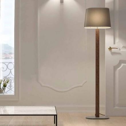 Candeeiro de chão de design moderno em metal com abajur de tecido Made in Italy - Jump