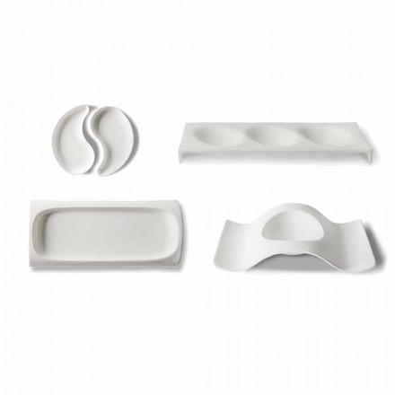 Pratos de serviço de aperitivos de design gourmet em Bone China 9 peças - Flavia