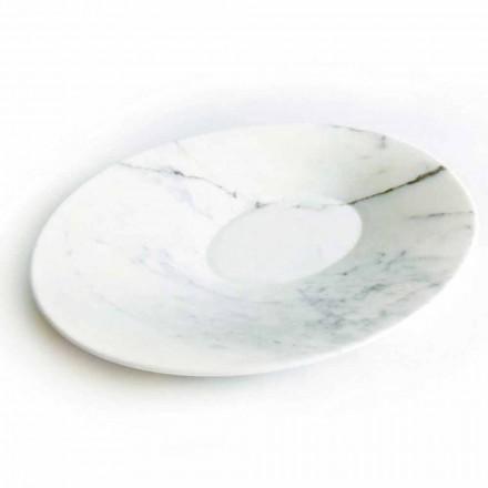 Prato Central Moderno em Mármore Branco de Carrara Fabricado na Itália - Miccio