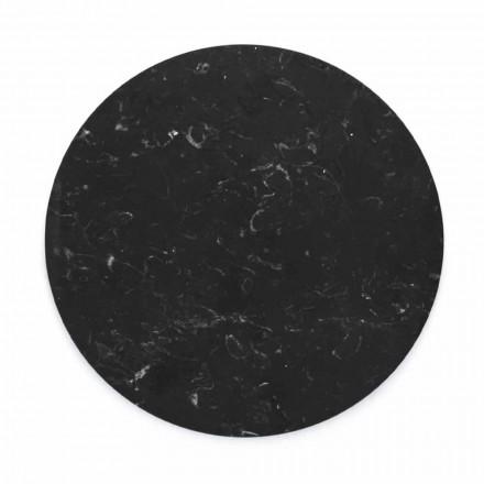 Prato redondo de queijo em mármore branco ou preto fabricado na Itália - Kirby