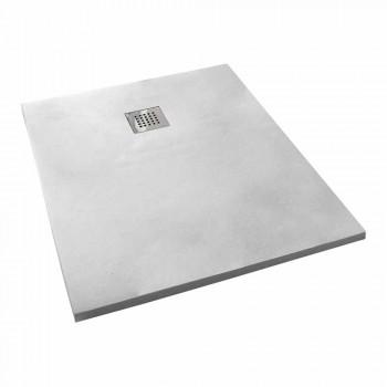 Base de chuveiro 100x70 Design moderno em branco ou cinza - efeito cupio concreto