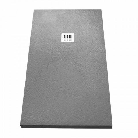 Base de banho moderna 160x70 em acabamento com efeito resina de pedra - Domio