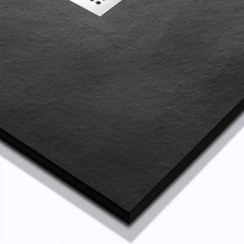 Base de chuveiro com design moderno em efeito pedra resina 100x70 - Domio