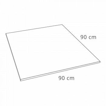 Base de banho quadrada moderna 90 x 90 em resina branca com efeito de ardósia - Sommo