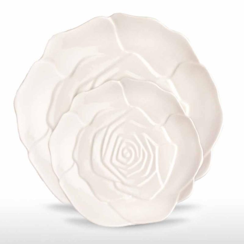 12 peças de porcelana elegante prato decorado à mão - Rafiki