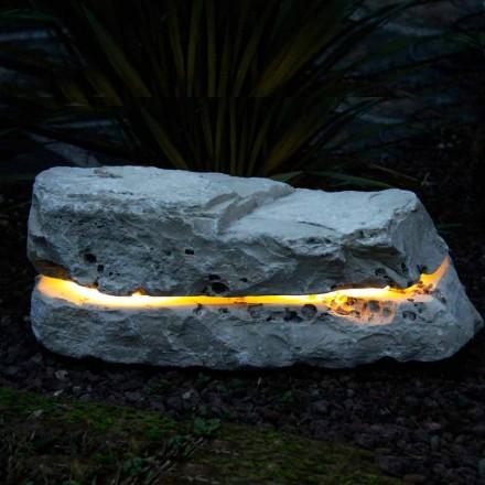 Pedra iluminadora com difusor de som Fior di Pesco Carnico Sound
