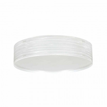 Luz de teto moderna 2-luz Debby, feita de polipropileno, 45 cm diam.