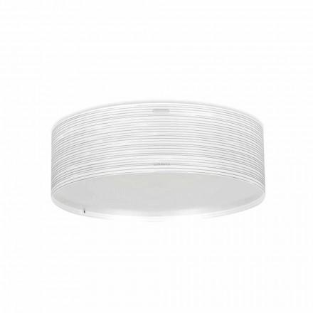Luz de teto moderna 3-luz Debby, feita de polipropileno, 60 cm diam.