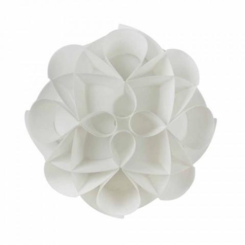 3 luzes lâmpada do teto feita na Itália branco pérola, diâmetro 51 cm, Lena