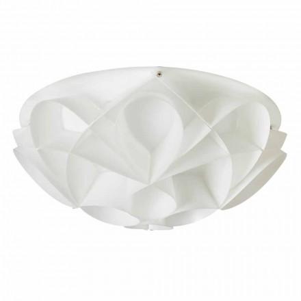 3 luzes de teto Lena, design moderno, branco pérola, 51 cm de diâmetro.