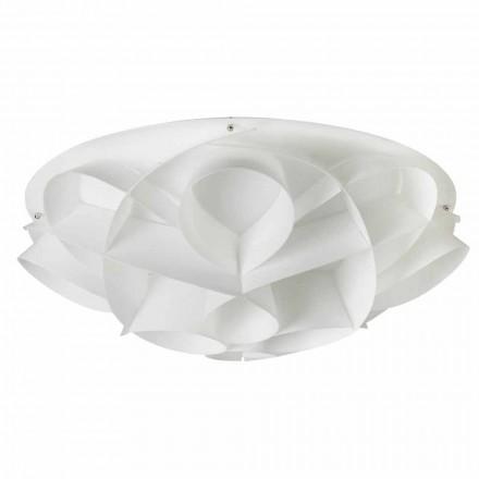 Lena de design moderno, acabamento em branco pérola, 70 cm de diâmetro.