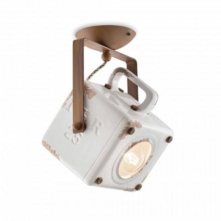 Kaylee vintage lâmpada de spot de teto quadrado ajustável