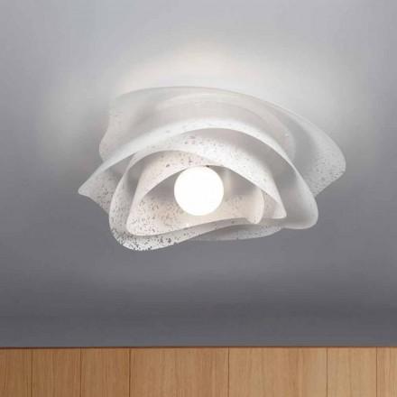Luminária de teto design moderno Adalia branco acabamento feito na Itália Ø 55 cm