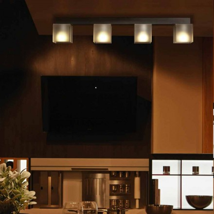 Luminária de teto design moderno Matis com sombra moderna 86x11 cm