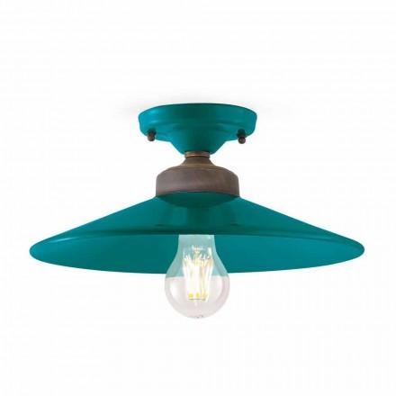 Luminária de teto design em cerâmica e latão Cecilia