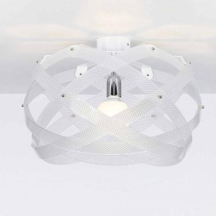 Luz de teto design moderno Vanna, acabamento espectral, 40 cm de diâmetro