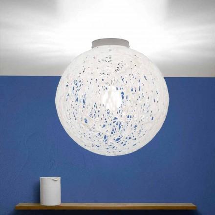 Luminária de teto design moderno Mady, made in Italy, diâmetro 48 cm