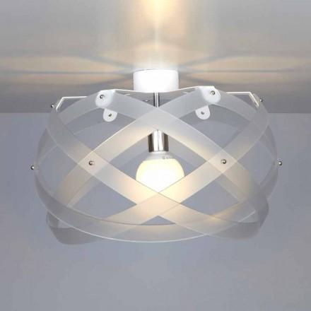 Luminária de teto design moderno Vanna, feita de metacrilato, 40 cm de diâmetro