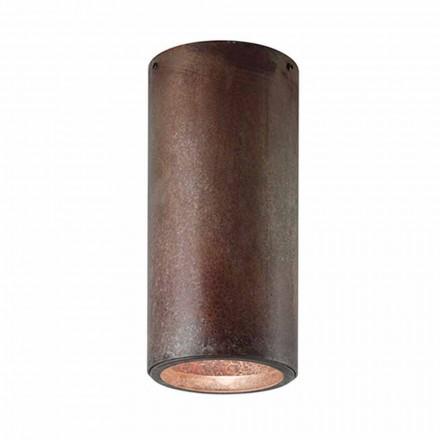 Luz de teto industrial vintage feita de ferro ou latão Girasoli