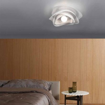 Luminária de teto design moderno Adalia branco, feito na Itália Ø 40 cm