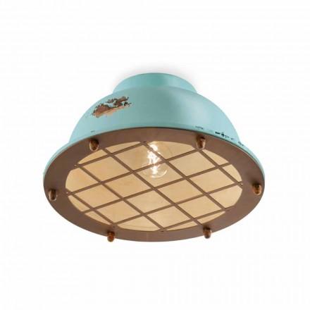 Luminária de teto estilo náutico com grade Mary by Ferroluce