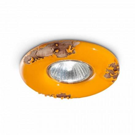 Luminária de teto de cerâmica redonda vintage Paula by Ferroluce