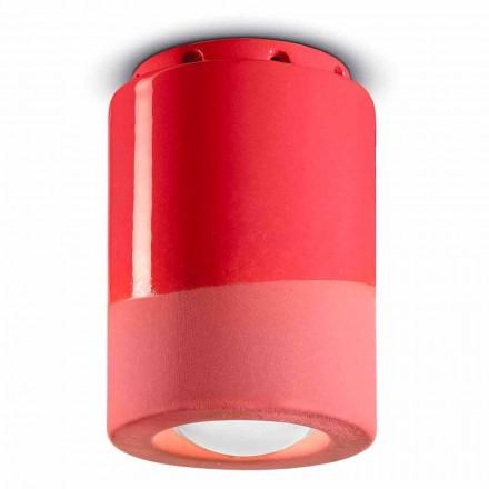 Lâmpada do teto vintage em cerâmica Made in Italy - Ferroluce Pi