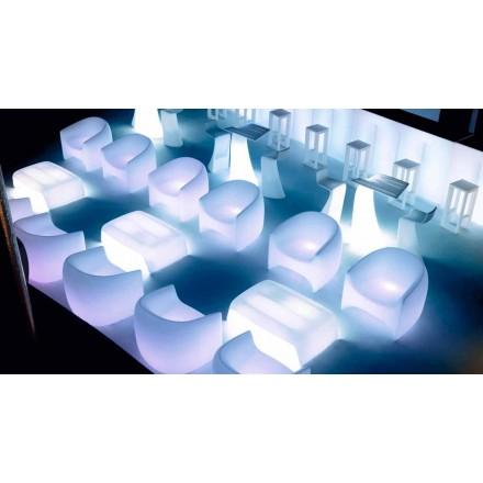 Poltrona de design moderno para exterior, em resina de polietileno Blow by Vondom