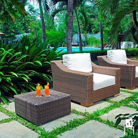 Poltrona de jardim artesanal Joe, design moderno