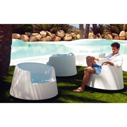 Poltrona de jardim moderna, em polietileno, Roleta por Vondom