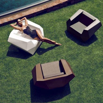 Poltrona de design moderno para exterior, em polietileno, Faz by Vondom