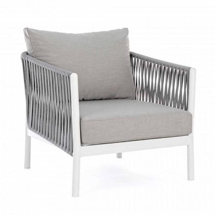 Poltrona de jardim em tecido de alumínio, fibra sintética e homemotion - Rubio