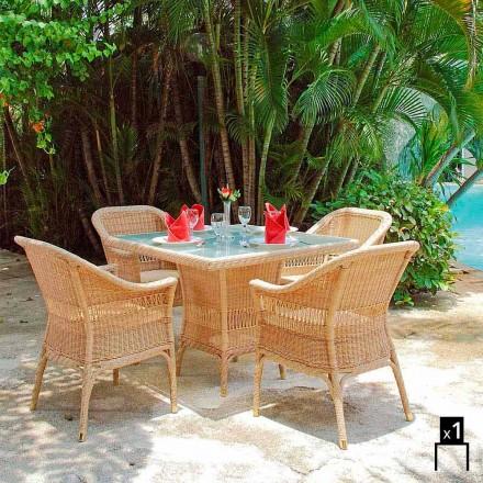 Poltrona de jardim Chade, tecelagem artesanal, design moderno