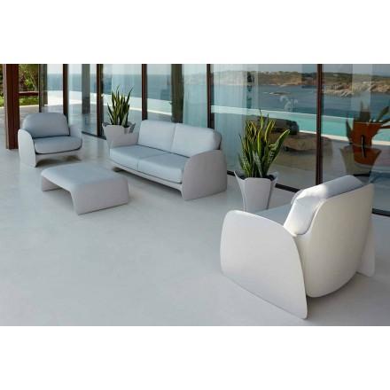 Poltrona de jardim design moderno em polietileno, Pezzettina por Vondom