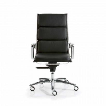 Cadeira de escritório em couro Light by Luxy, modern design