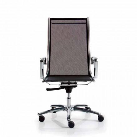 Cadeira executiva de malha com encosto alto Light by Luxy
