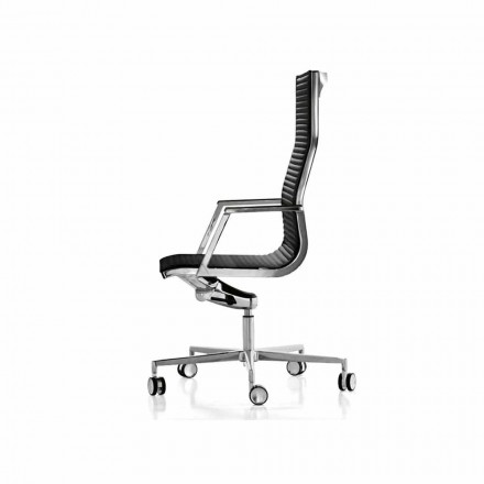 Cadeira executiva de tecido / pele Nulite by Luxy, modern design