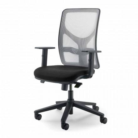 Poltrona de escritório de design executivo com encosto alto fabricada na Itália Amelie