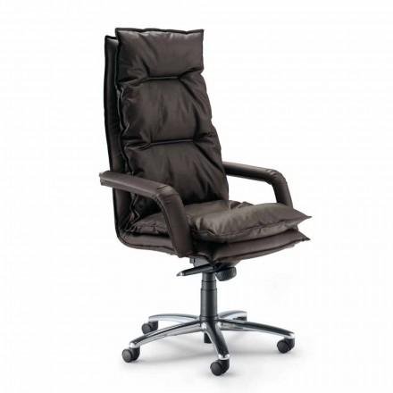 Cadeira executiva em couro sintético Gemma, design moderno