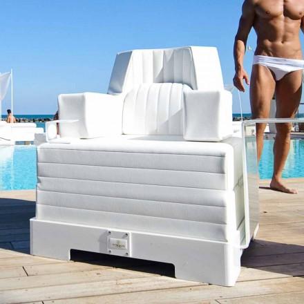 Design moderno branco flutuante piscina espreguiçadeira Trona Luxury, made in Italy