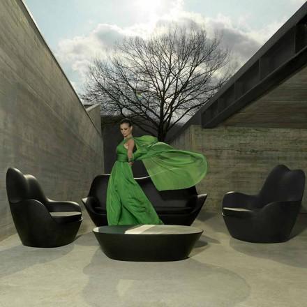 Poltrona de jardim moderna, feita com polietileno, Sabinas by Vondom