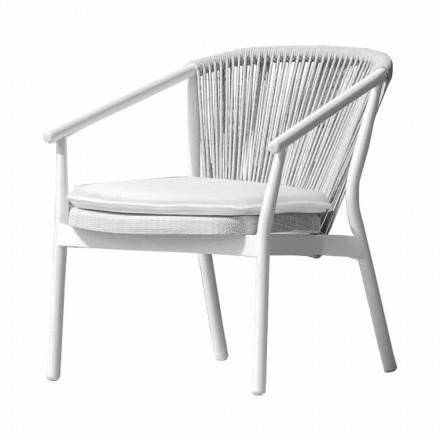 Poltrona de jardim Lounge tecido estofado e alumínio - Smart by Varaschin