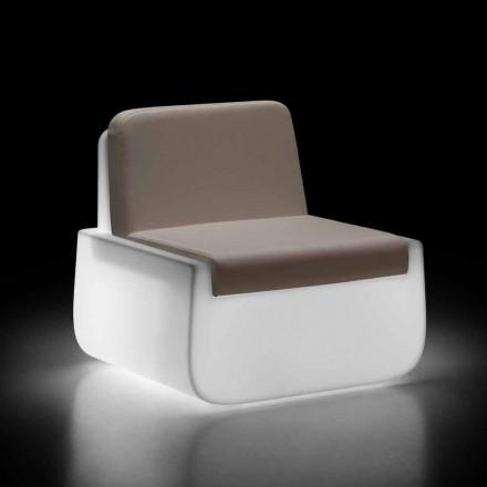 Poltrona Externa Luminosa em Polietileno com Almofada Made in Italy - Belida