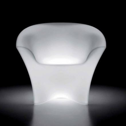 Poltrona Luminosa Exterior em Polietileno com Luz LED Made in Italy - Conda