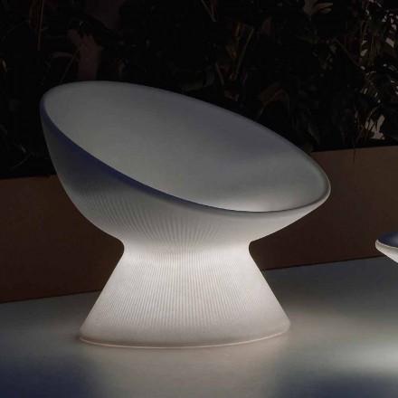 Poltrona Luminosa Exterior em Polietileno com Luz LED Made in Italy - Desmond