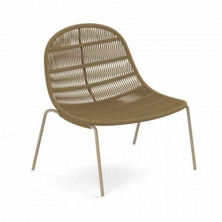 Poltrona Outdoor Design em Alumínio e Tecido - Panama by Talenti