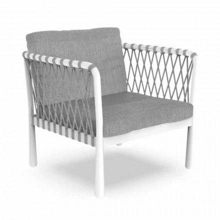 Poltrona Moderna ao Ar Livre em Alumínio e Tecido - Sofy by Talenti