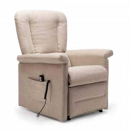 Poltrona reclinável Lift Relax com 2 motores e rodas, fabricada na Itália - Isabelle