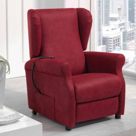 Cadeira de cadeira recliner único motor riser Via Verona, made in Italy