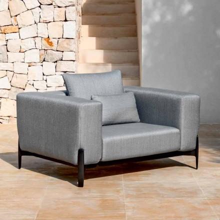 Poltrona Relax Garden Alumínio e Tecido, Design em 3 Acabamentos - Filomena